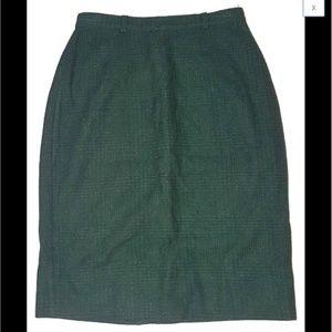 Dresses & Skirts - Skirt Long Wool Green High Waist Vintage XS